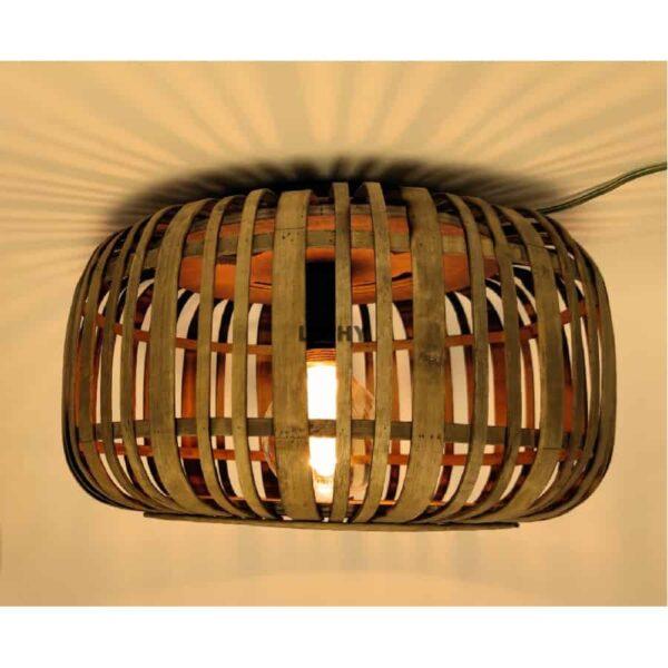 Plafondlamp Tricia hout 34cm