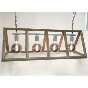 Hanglamp Farm hout 4 lichts