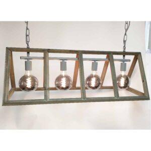 Hanglamp Farm hout 4 lichts