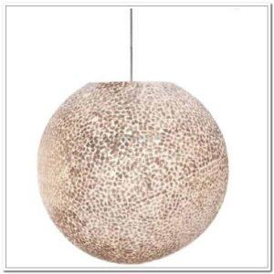 Schelpen hanglamp Bal 1 licht White capiz shell Wangi White doorsnede 60 cm