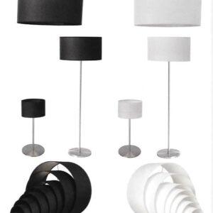 Kappen lampenkappen K20/13 20 cm zwart of wit