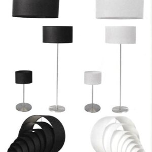Kappen lampenkappen K25/15 15 cm zwart of wit
