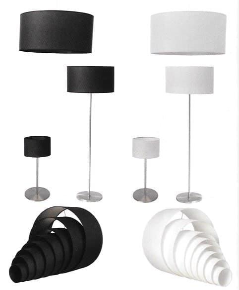 Kappen lampenkappen K60/30 30 cm zwart of wit