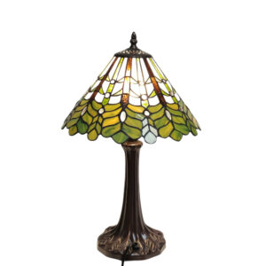 Tiffany tafellamp Blad groen