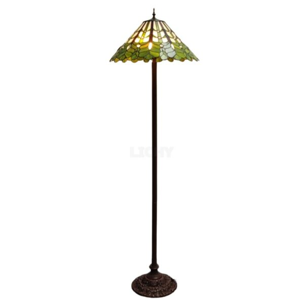 vloerlamp tiffany blad groen