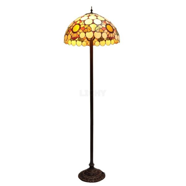 vloerlamp tiffany zonnebloem