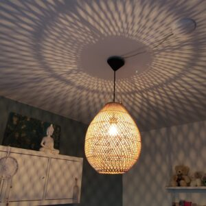 Hanglamp Druppel riet naturel 33cm 511021