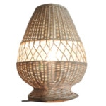 Tafellamp ruit riet naturel 30cm 511029